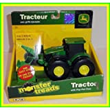 ERTL John Deere Monster Treads Tractor With Pop-out Claw By Tomy