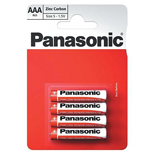 Panasonic 1010 Special Power Batterie Zinc R03R AAA Micro