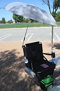 Improved Zero Tipping Heavy-duty Oasis 900 Sport Seat W Telescopic Umbrella And Cooler- I Pod Holder Cell Phone Holder-5 Years Warranty-high Quality Construction- Securely Attaches To A Bench Or Bleacher With The 2 Wide Heavy-duty Metal Clipsa Bonus Sola
