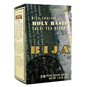 Flora Bija Holy Basil Tea, 20-Count