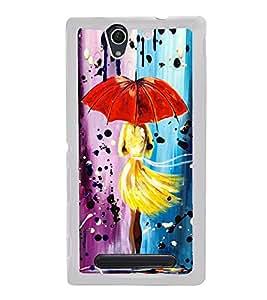 Girl with Umbrella 2D Hard Polycarbonate Designer Back Case Cover for Sony Xperia C4 Dual :: Sony Xperia C4 Dual E5333 E5343 E5363