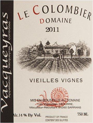 2011 Domaine Le Colombier Vacqueyras Vieilles Vignes Rhône Valley Red Wine 750 Ml