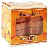 "ILLUMINATIONS Il -823 Fragrance T Light Candles(3.25"" X 3.25"" X 3.25"",Orange)"