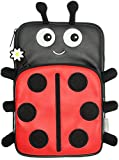 My Doodles Fun Novelty Children's Character Universal Case Cover Sleeve Pouch with Zip Compatible with 7 Inch Tablets Including iPad Mini 1/2/3, Google Nexus 7, Samsung Galaxy Tab 2/3/4 (7.0 Inch) and Kindle Fire HD/HDX (7 Inch) - Ladybird