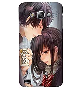 Printvisa Romantic Couple Holding Softdrink Can Back Case Cover for Samsung Galaxy Grand Max G720