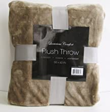 Luxurious Comfort Plush Throw - Taupe