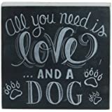 Primitives by Kathy Chalk Sign, 4.5-Inch by 4.25-Inch, and A Dog