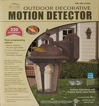 outdoor decorative lantern motion detector landscape. Black Bedroom Furniture Sets. Home Design Ideas