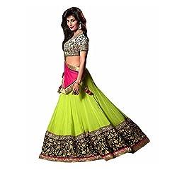 Krishna Emporia Women's Green Designer Lehenga Choli
