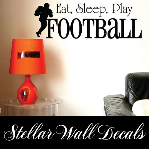Ideal Eat Sleep Play Football Sports Hobbies Outdoor Vinyl Wall Decal Sticker Mural Quotes Words Svd