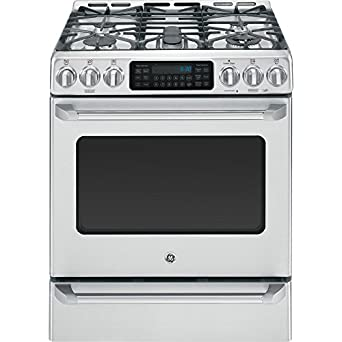 "GE CGS985SETSS Cafe 30"" Stainless Steel Gas Sealed Burner Range - Convection"