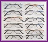 Reading Glasses Wholesale Lot Of 12-Metal Frame +1.25