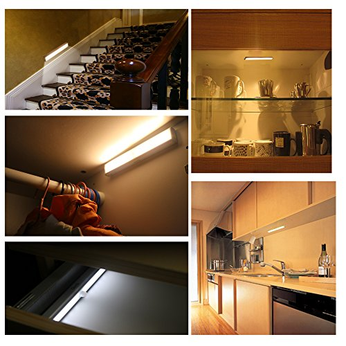 L408 Wireless LED Under Cabinet Lighting (Motion Sensor Detector ...