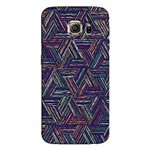 TRAINGLE COLORED LINES BACK COVER FOR SAMSUNG GALAXY S6 EDGE PLUS