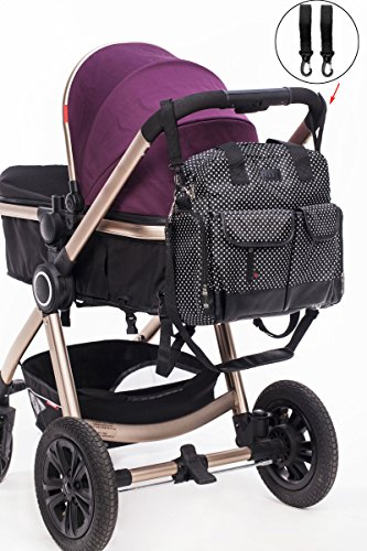 Neuf bébé sac à langer manière noir 3pcs