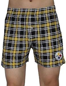 Pittsburgh Steelers Mens Plaid Sleepwear / Pajama Shorts at Steeler Mania