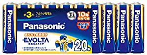 Panasonic EVOLTA 単3形アルカリ乾電池 20本パック LR6EJ/20SW