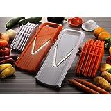 """Pro V Hobel 7 in 1- K�chenhobel f�r Obst, Gem�se, und vieles mehr in Orange von Vidalia, ein genial scharfes, schnelles, zuverl�ssiges und vielseitiges K�chenger�tvon """"Vidalia"""""""