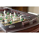 American-Heritage-Carlyle-Series-390001-Tournament-Size-and-Quality-Foosball-Table-with-Two-Ball-Returns-Adjustable-Leg-Levelers-Cup-holders-with-Leather-Inserts-and-3-Man-Goalie-System-in-Espresso