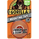 Gorilla Tough & Clear Mounting Tape, Double-Sided, 1