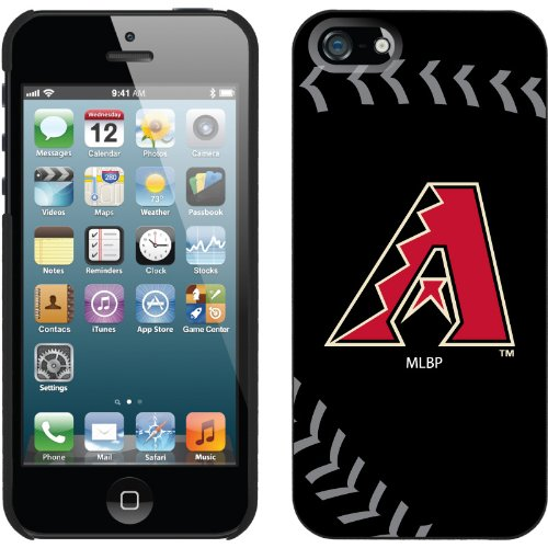 Great Price Arizona Diamondbacks - stitch design on a Black iPhone 5s / 5 Thinshield Snap-On Case by Coveroo