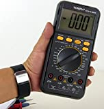 Sinometer VC9805A+ 30-Range Digital Multimeter & LCR Meter With a Rubber Holster for Protection, High Accuracy