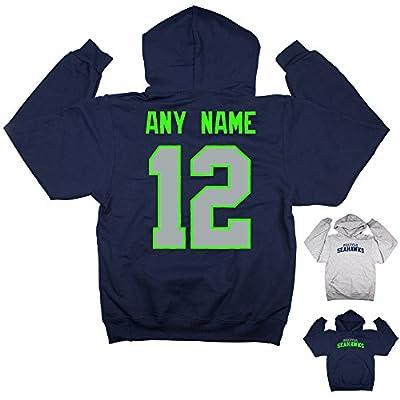 Seattle Seahawks 12th Man Custom Name Pullover Hoodie