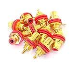 カラー 選べる 金 メッキ RCA ジャック 単色 10個セット または 4色 8個セット (赤 10個)