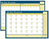 House of Doolittle 30/60 day Laminated Non-Dated Planner with Write on/Wipe off feature, 24 x 18 Inch, Recycled (HOD641)