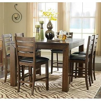 Homelegance Eagleville 5 Piece Counter Dining Room Set in Brown