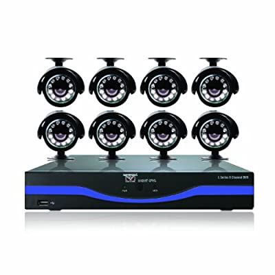 Night Owl Security L-85-8511 8-Channel 960H Recording Resolution DVR with 500GB HDD HDMI 8 Night Vision Cameras and Free Night Owl Lite App (Black)