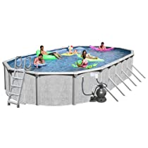 Big Sale Splash Pools Above Ground Oval Pool Package, 30-Feet by 15-Feet by 52-Inch
