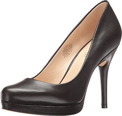 Nine West Women's Kristal Leather Dress Pump, Dark Brown, 7.5 M US
