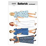 Butterick Patterns B6601 Size 22W-24W-26W Womens/ Womens Petite Dress , Pack of 1, White