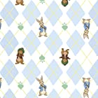 Peter Rabbit, Rabbits and Radishes, Baby Blue, 43/44 Wide, Fabric By The Yard