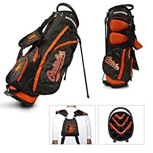 MLB Baltimore Orioles Fairway Stand Golf Bag, Black by Team Golf