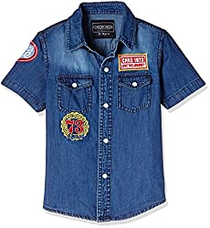 Cherokee Boys' Shirt (267982082_Medium Blue_2 - 3 years)