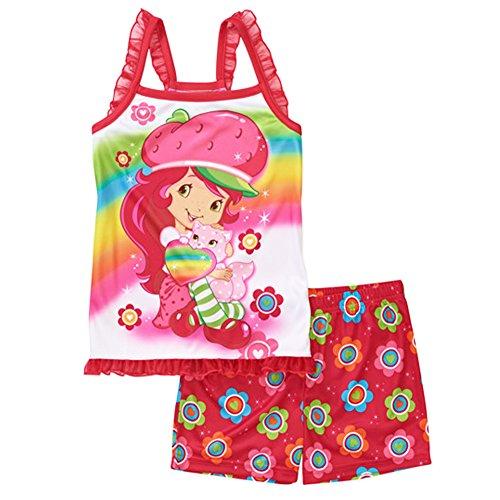 Strawberry Shortcake Tank Top & Shorts Pajama Sleepwear Set Girl Xs 4/5 (Xs) front-578909