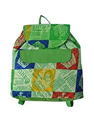 Stylocus Haversack Stylish Cotton Printed Green Haversack Green Color