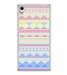 ifasho multi color Triangular Pattern Back Case Cover for Sony Xperia Z3 Plus