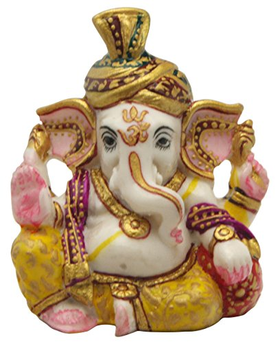 Mini Hand-painted Turban Ganesh Statue