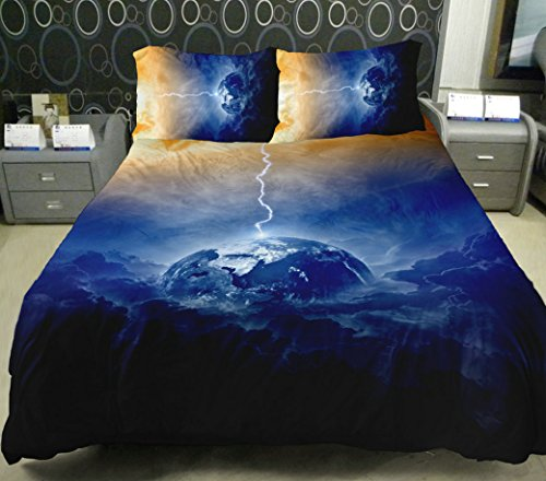 Anlye Nebula Bedding The Gifts For Women 2 Sides Printing Nebula Quilt Duvet Covers Nebula Flat Sheet With 2 Nebula Pillow Covers Queen front-873259