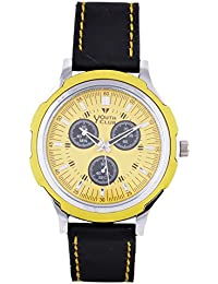 YOUTH CLUB EYE ATTRACTIVE ANALOG YELLOW DIAL MEN'S WATCH-YCS-62YL