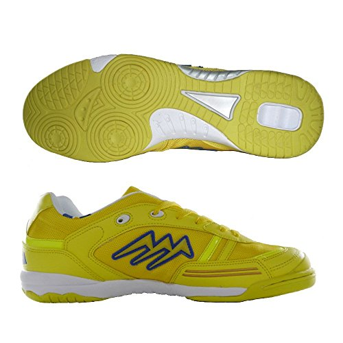 AGLA PROFESSIONAL CONDOR LIGHT INDOOR scarpe calcetto futsal con anti-shock (eu 40, yellow)