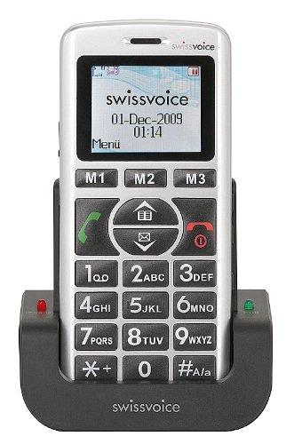 Swissvoice MP11 - Großtasten Mobiltelefon mit beleuchtetem Farbdisplay und SOS-Notruftaste