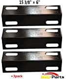bbq-parts PPI351(3-pack) Porcelain Steel Heat Plate, Heat Shield, Heat Tent, Burner Cover, Vaporizor Bar, and Flavorizer Bar Replacement for Select Ducane Gas Grill Models, 30501013 (15 3/8