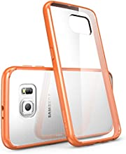 Galaxy S6 Case, [Scratch Resistant] i-Blason **Clear** [Halo Series] Samsung Galaxy S6 Hybrid Bumper Case Cover (Clear/Orange)