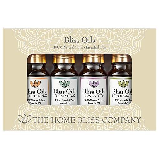 Aromatherapie-therische-le-100-naturrein-Top-4-Geschenkset-Bliss-le-enthalten-Eukalyptus-Lavendel-se-Orange-Lemongras-Zitronengras-le-und-kommen-mit-kostenlosem-E-Book-Eine-praktische-Anleitung-zu-the