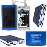 Expower(R) Batteria esterna 10000mAh Solar Power Dual USB per Iphone Ipad e Samsung Smartphone e altri dispositivi...