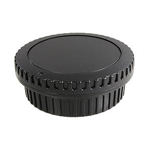 CamDesign 5 SET Camera Body Cap & Lens Cover Cap Canon RF-3 for Canon EOS 6D Mark II/ 5D Mark IV III II, 5DS 5DR, 7D Mark II, 77D 6D 7D 80D 70D 60Da 60D SL1, T7i T6s T6i T5i T4i T3i T2i T1i XSi XT XTi